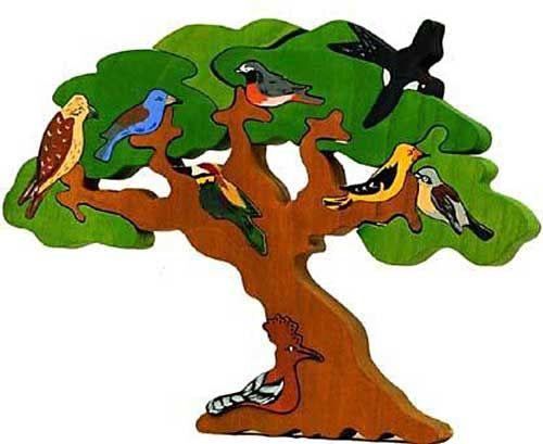 Puzzle Vogelbäume - Zugvögel