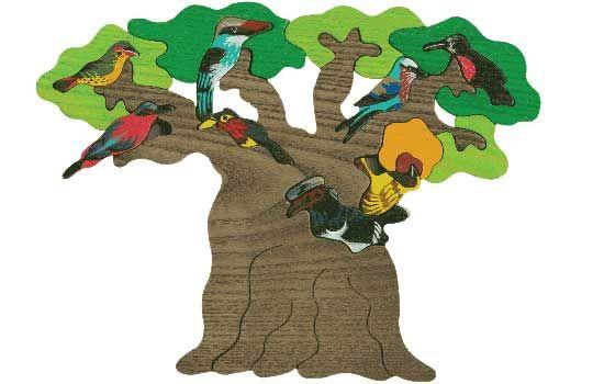 Puzzle Vogelbäume - Afrika