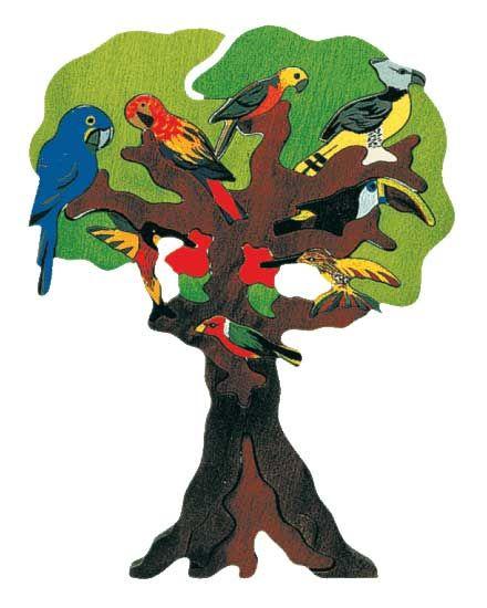 Puzzle Vogelbäume - Süd Amerika