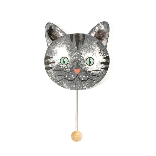 Musikdose Katze grau Wandmodell