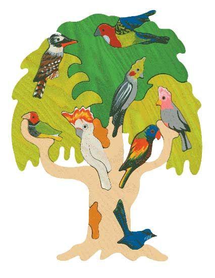 Puzzle Vogelbäume - Australien