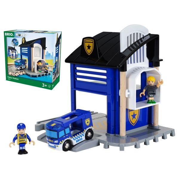 Polizeistation mit Einsatz-