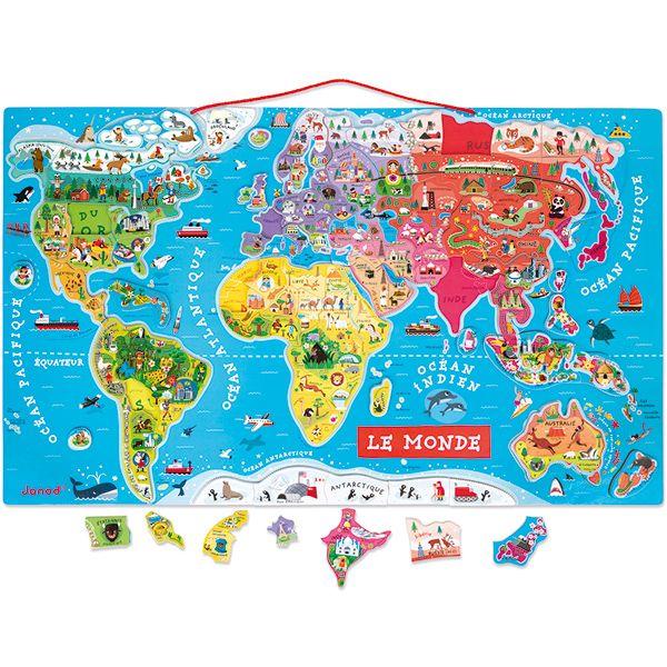 Magnetpuzzle Weltkarte 92tlg.