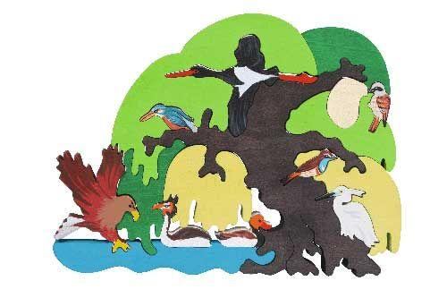 Puzzle Vogelbäume - Europäisches Uferland