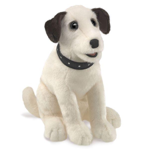 Handpuppe Terrier sitzend