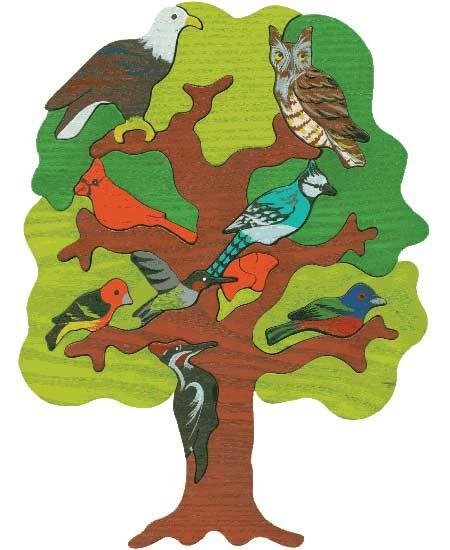 Puzzle Vogelbäume - Nord Amerika