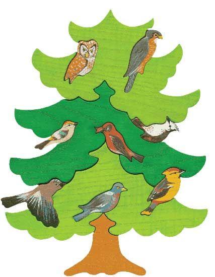 Puzzle Vogelbäume - Nord Europa